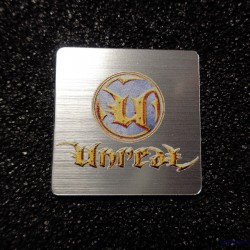 Unreal Retro PC Logo Case Sticker Badge [492b]