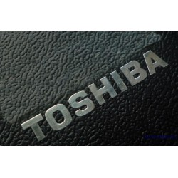TOSHIBA Label / Aufkleber / Sticker / Badge / Logo 40mm x 5mm [078]