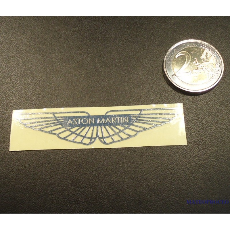 Aston Martin Label / Aufkleber / Sticker / Badge / Logo